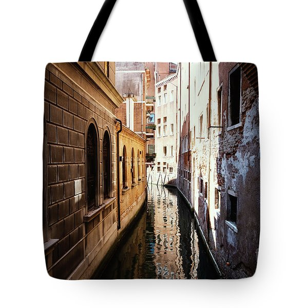 A Shadow In The Venetian Noon Narrow Canal Tote Bag
