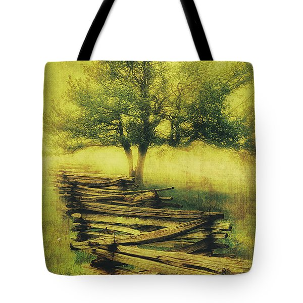 A Shady Tree On A Foggy Day Fx Tote Bag