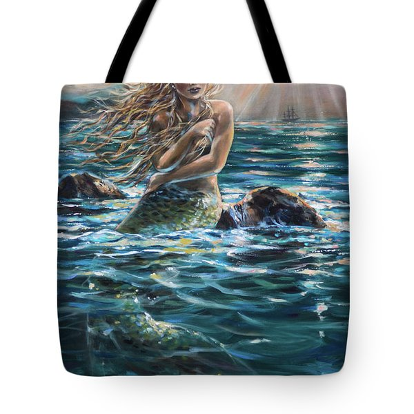 A Ship In The Distance Tote Bag
