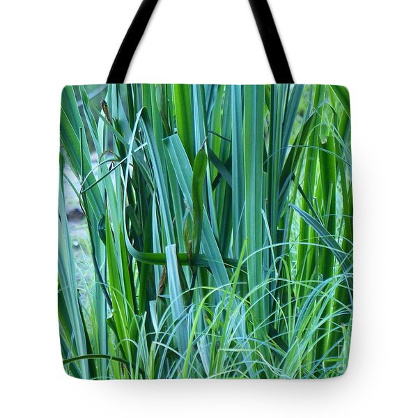 Tote Bag featuring the photograph A Shock Of Green by Rosanne Licciardi