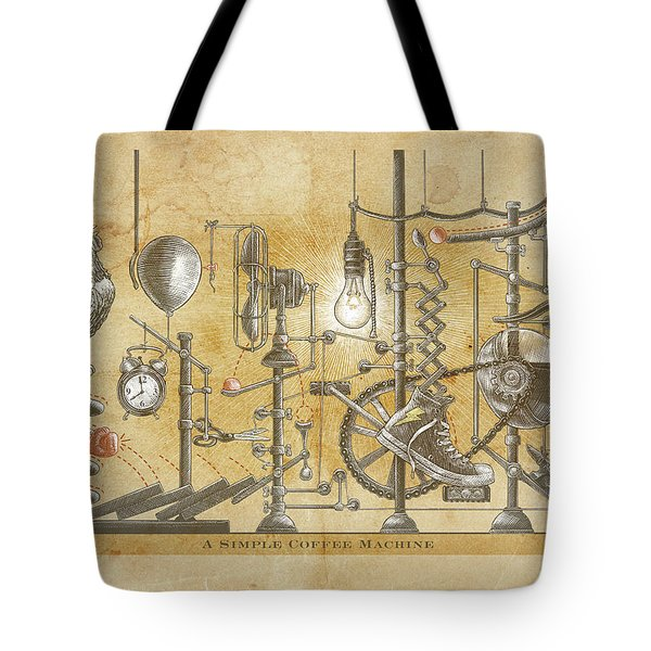 A Simple Coffee Machine Tote Bag