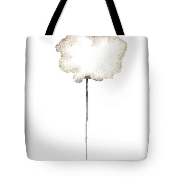 A Single Centred Sepia Cloud Poppy  Tote Bag