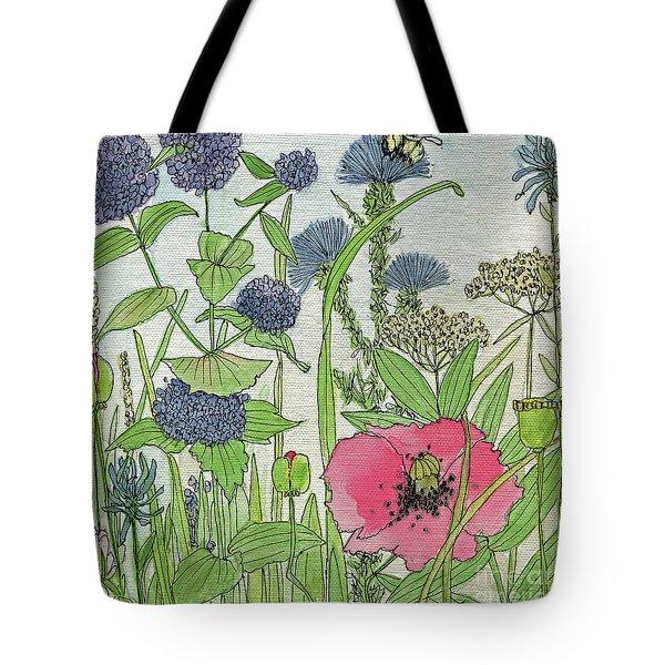 A Single Poppy Wildflowers Garden Flowers Tote Bag