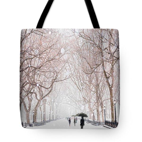 A Snowy Lane Tote Bag