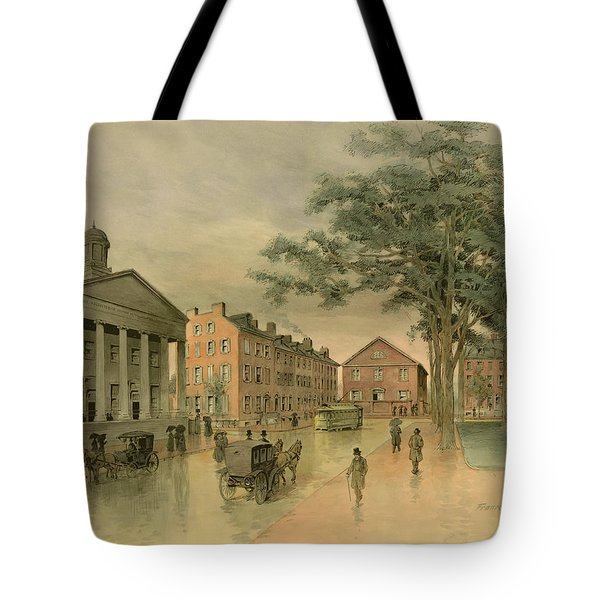 A Southwestern View Of Washington Square Tote Bag