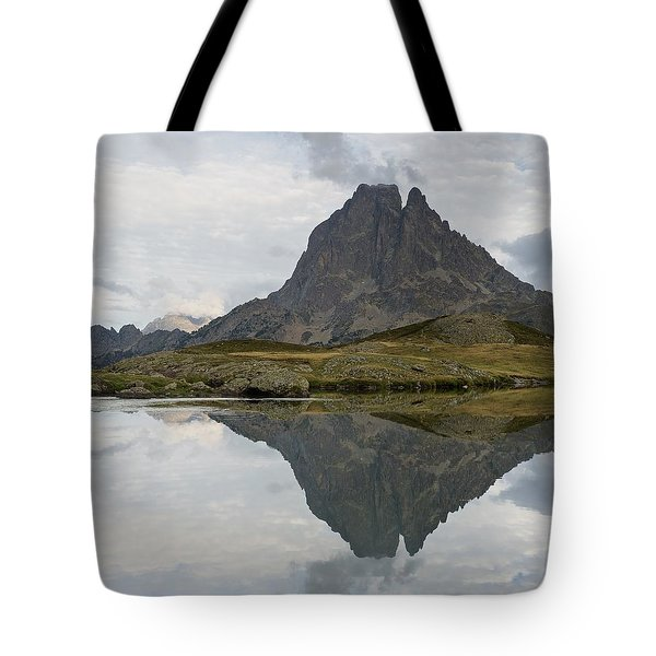 Tote Bag featuring the photograph A Still Evening At Lac Du Miey by Stephen Taylor