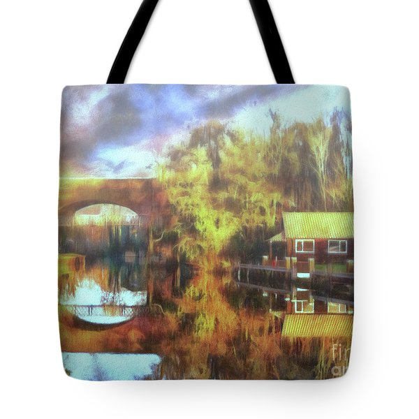 Tote Bag featuring the photograph A Stop Along The Wey by Leigh Kemp