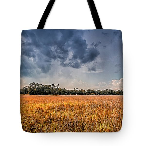 Tote Bag featuring the photograph A Storm Is Coming by Bernd Laeschke