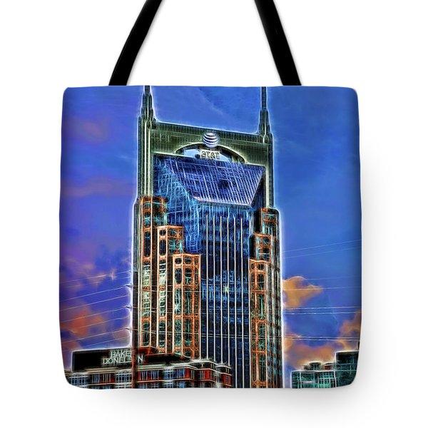 A T And T Building A K A The  Batman Building # 3 - Nashville  Tote Bag