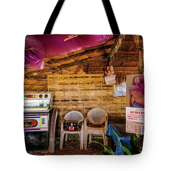 Tote Bag featuring the photograph A Thai Bar by Jeremy Holton