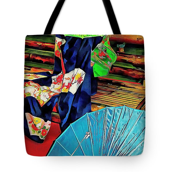 Tote Bag featuring the photograph A Touch Of Japan by Dorothy Berry-Lound