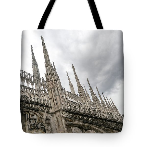 A Veritable Forest Of Svelte Graceful Spires - Milans Cathedral Duomo Di Milano Tote Bag