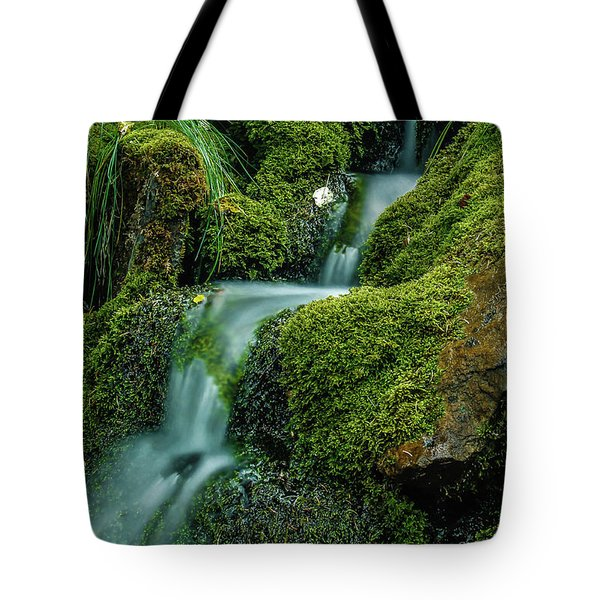 A View From The Side Of The Bow Valley Parkway, Banff National P Tote Bag