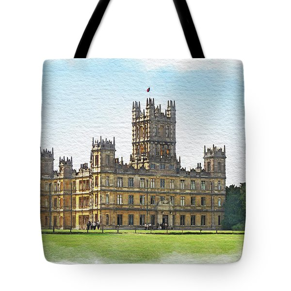 A View Of Highclere Castle 1 Tote Bag