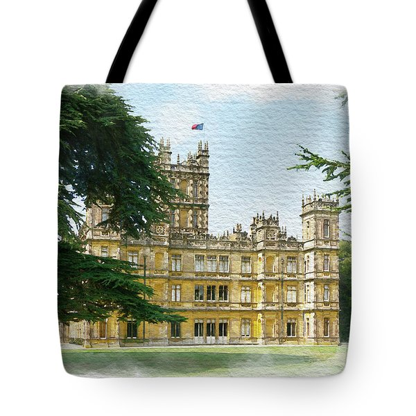 A View Of Highclere Castle 2 Tote Bag