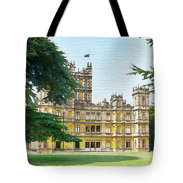 A View Of Highclere Castle 3 Tote Bag