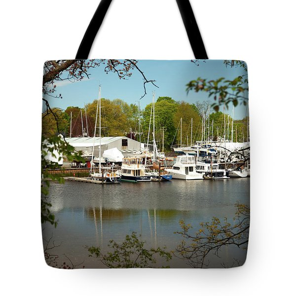 A View Of The Marina Tote Bag