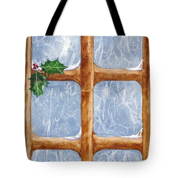 A Visit From Jack Frost Tote Bag