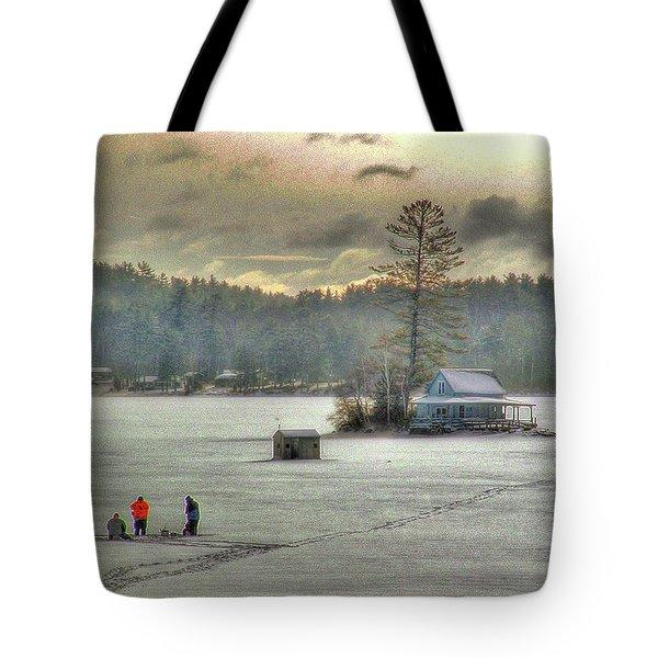 A Warm Glow On A Cool Scene Tote Bag