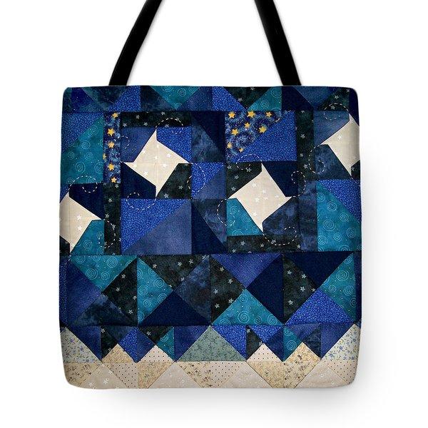 A Winter Snowscape Tote Bag