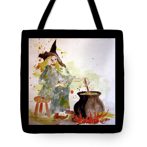Tote Bag featuring the painting A Witch Called Zee by Valerie Anne Kelly