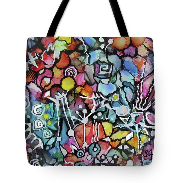 A Zentangle Dance Tote Bag