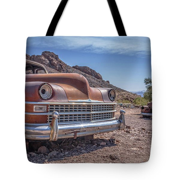 Abandoned Cars In The Desert Tote Bag
