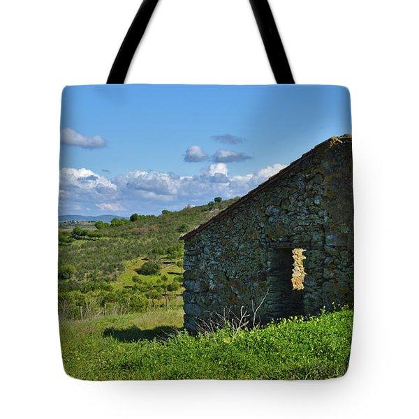 Abandoned Cottage In Alentejo Tote Bag