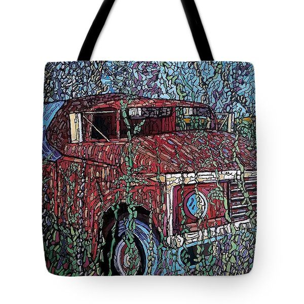Abandoned Oil Truck  Tote Bag