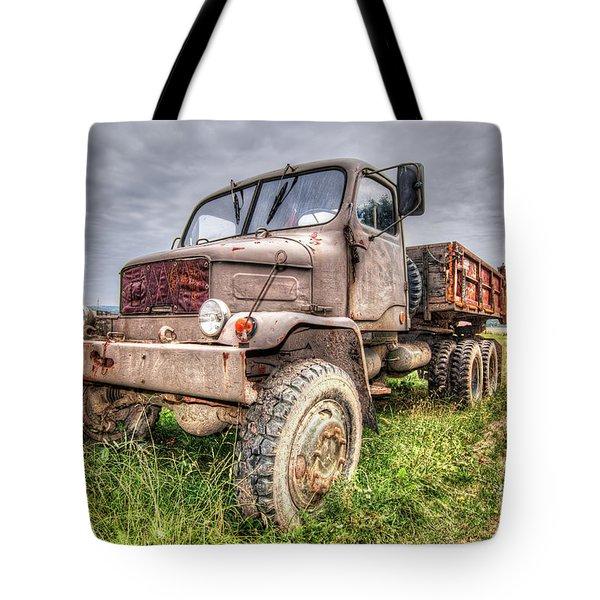 Abandoned Old Rusty Truck Praga V3s Tote Bag