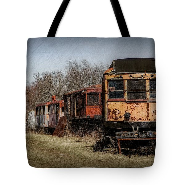 Abandoned Train Tote Bag