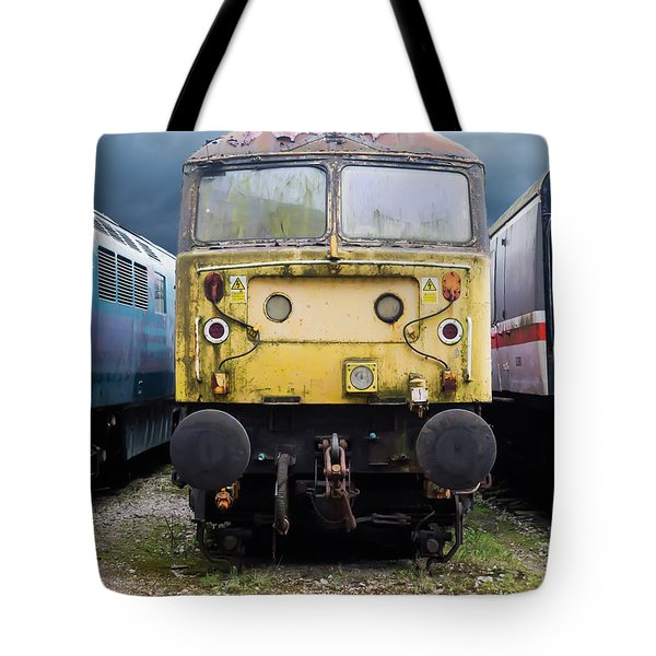 Abandoned Yellow Train Tote Bag