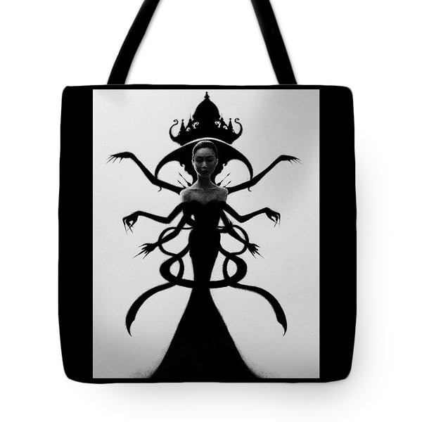 Tote Bag featuring the drawing Abdesium - Artwork by Ryan Nieves