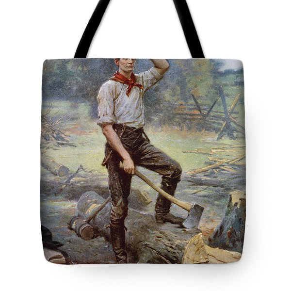 Abe Lincoln The Rail Splitter  Tote Bag