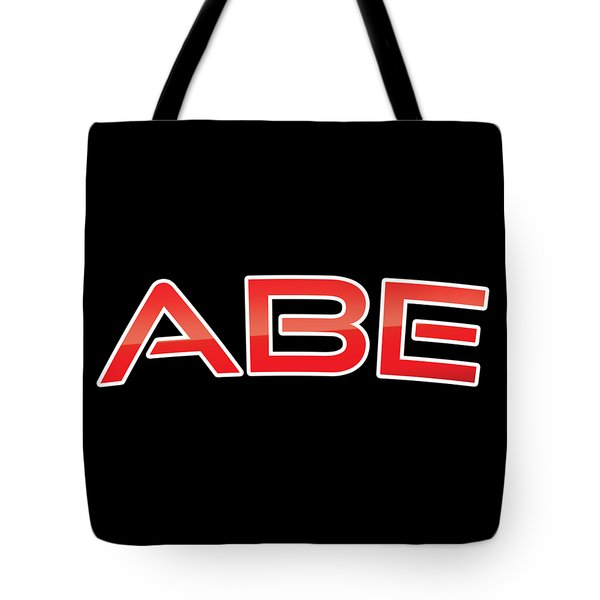 Tote Bag featuring the digital art Abe by TintoDesigns