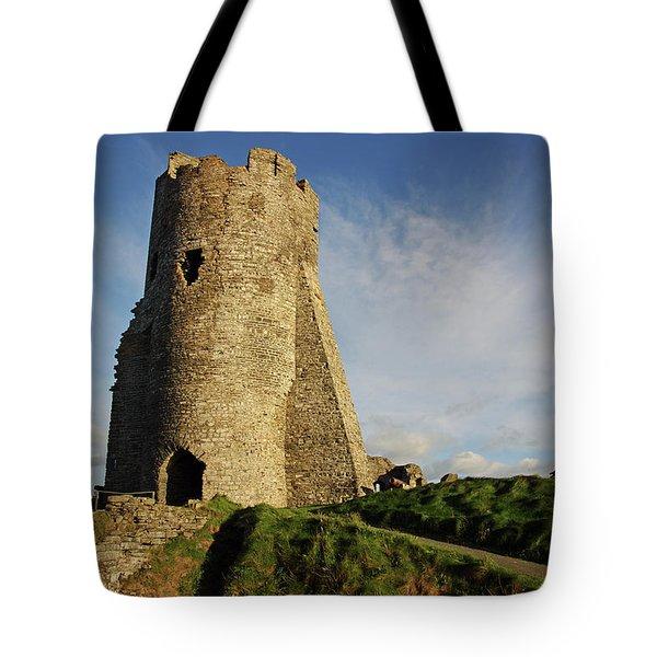 Aberystwyth. The Castle Gatehouse. Tote Bag