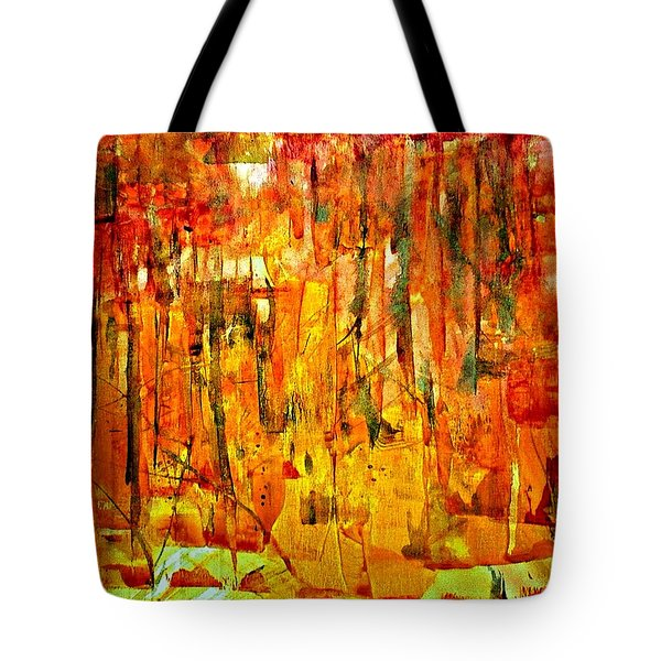 Tote Bag featuring the painting Ablaze by 'REA' Gallery