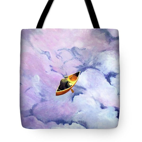 Above The Clouds Tote Bag