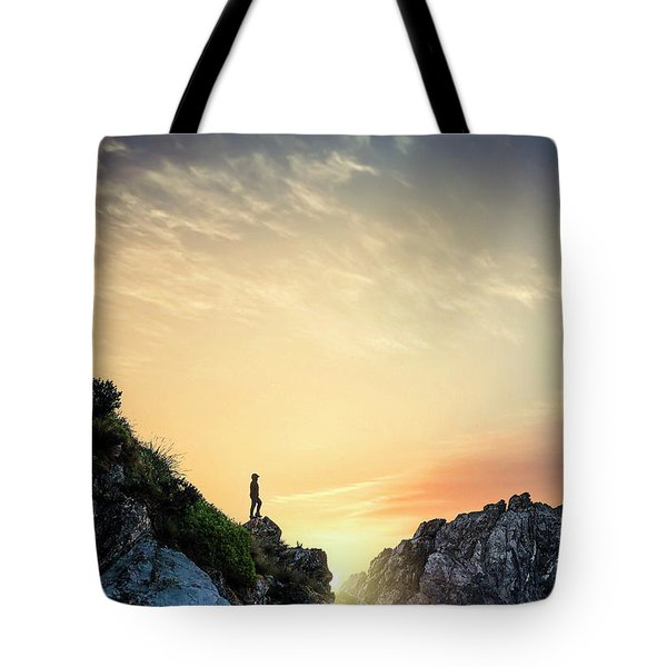 Above The Light Tote Bag