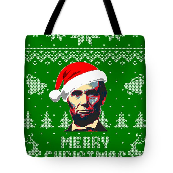 Abraham Lincoln Merry Christmas Tote Bag
