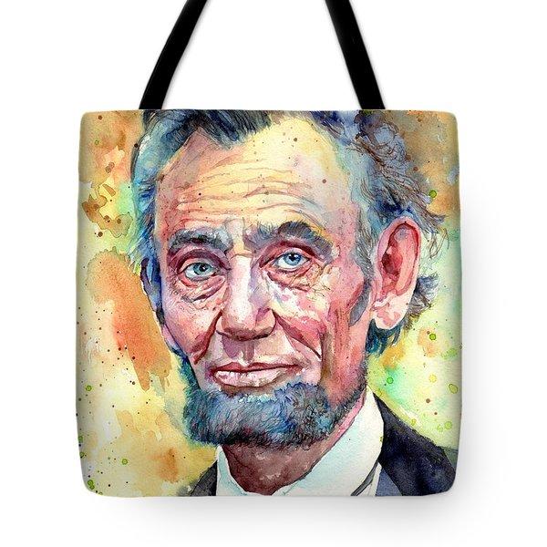 Abraham Lincoln Portrait Tote Bag