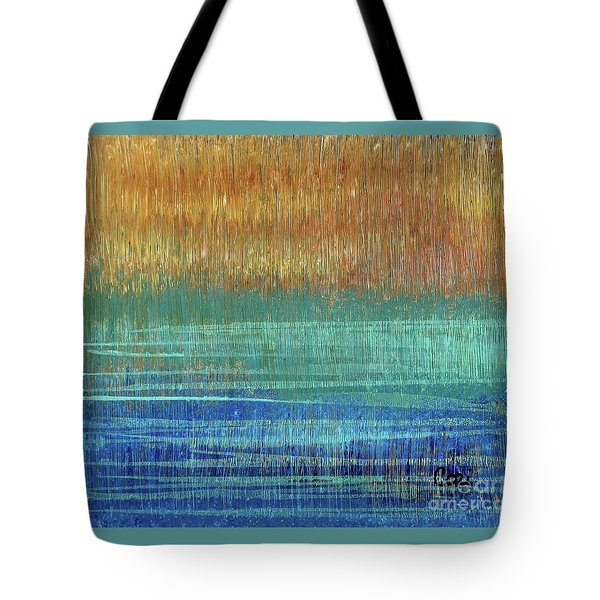 Tote Bag featuring the painting Abstract 1001 - Art By Cori by Corinne Carroll
