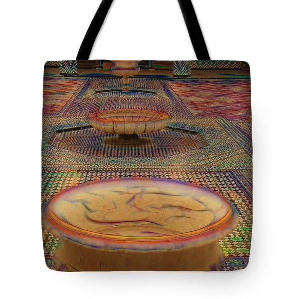 Abstract Architecture Morocco  Tote Bag