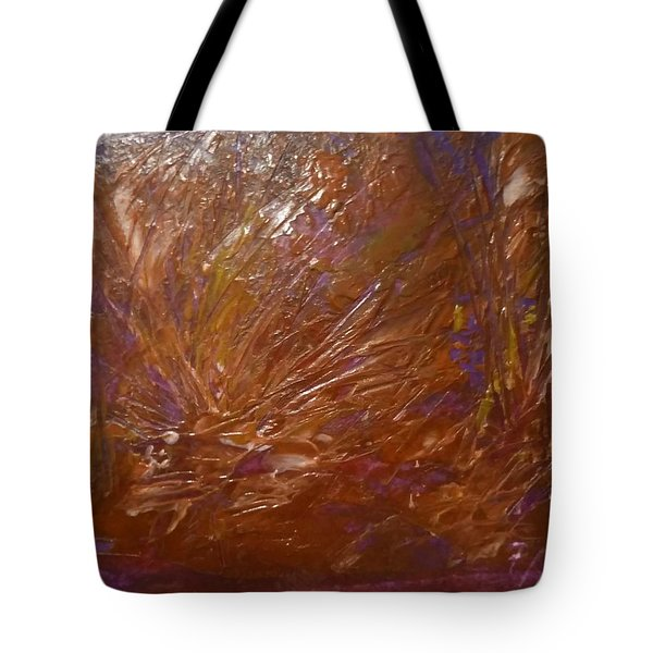 Abstract Brown Feathers Tote Bag