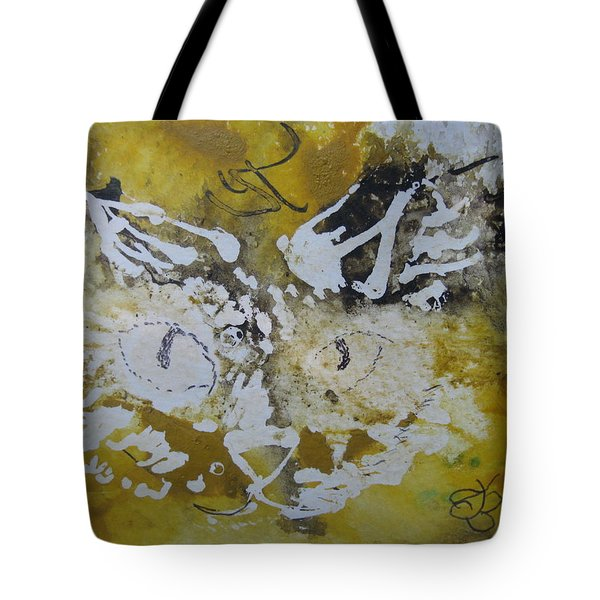Abstract Cat Face Yellows And Browns Tote Bag