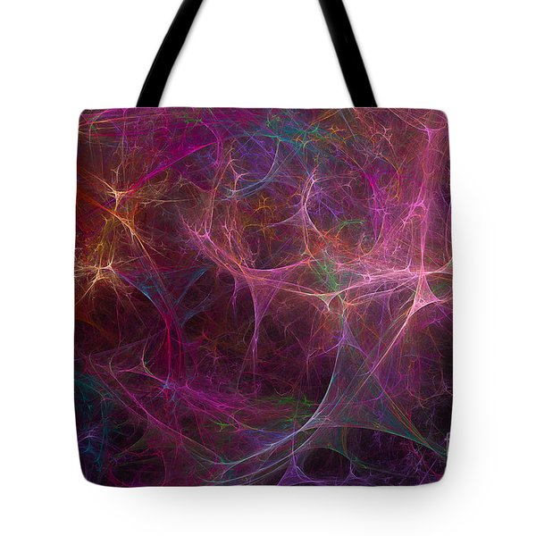Abstract Colorful Fireworks Tote Bag