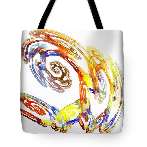 Abstract Crab Yellow Tote Bag