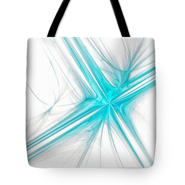 Abstract Cross Light Blue Tote Bag