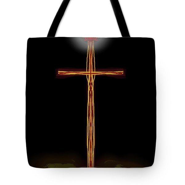 Abstract Cross With Halo Tote Bag