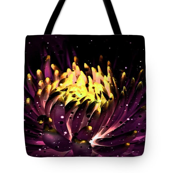 Abstract Digital Dahlia Floral Cosmos 891 Tote Bag